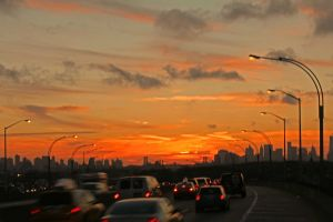sunset from BQE